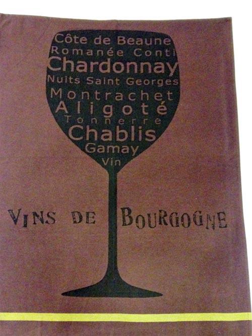 Torchon Savourer Bordeaux Jacquard Tissage Moutet