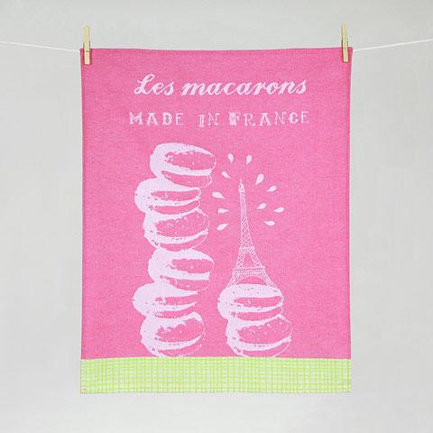 Torchon Déguster Macarons Jacquard Tissage Moutet