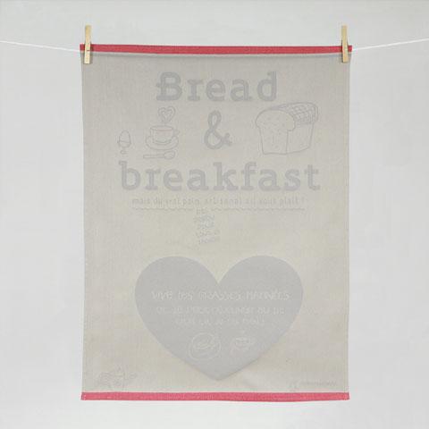 Torchon Divine Comédie Bread & Breakfast Jacquard Tissage Moutet