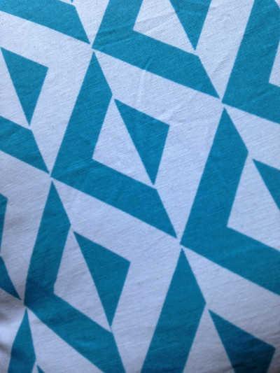 Housse de coussin carré losanges bleu Turquoise