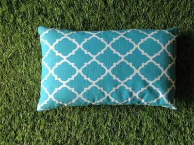 Housse de coussin rectangle Orient bleu Turquoise