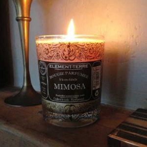 Bougies Parfumées à la cire d'abeille Elément-Terre