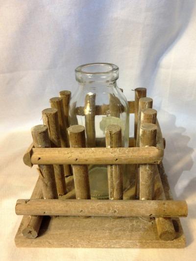 Vase soliflore en cage