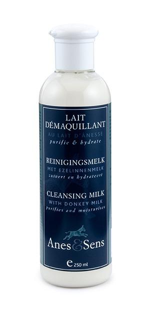 Lait démaquillant au lait d'ânesse Anes et Sens