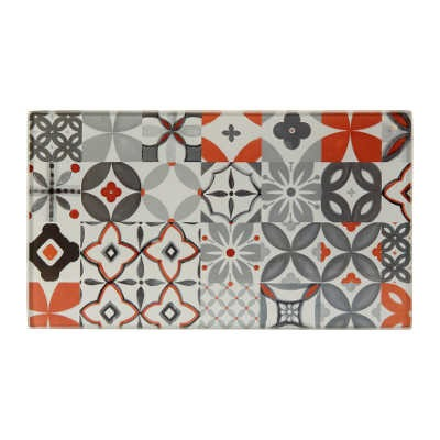 "Planche multi-usages en verre ""Carreau Rouge"" rectangulaire"