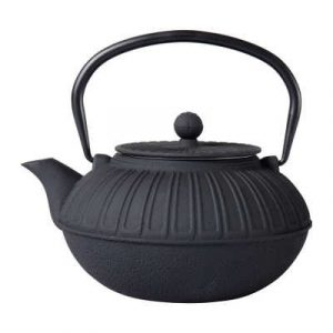 """Théière en fonte émaillée noire """"Samouraï"""" 1.5 litre"""