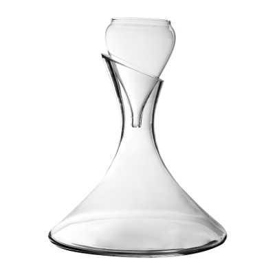 Carafe à décanter en verre avec aérateur
