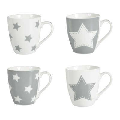 Mug décor étoiles en porcelaine