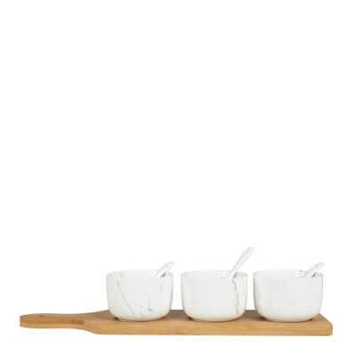 Set Aperitif bambou et porcelaine
