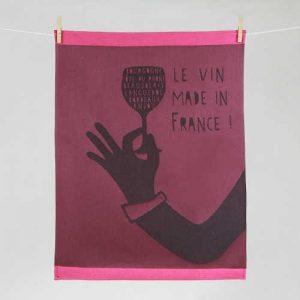 """Tissage Moutet - Collection Avec Modération """"Le vin made in France"""""""