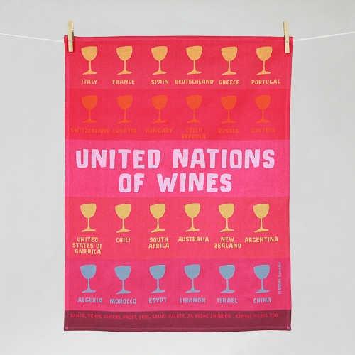 """Tissage Moutet - Collection Avec Modération """"United nations of wines"""" by Divine Comédie"""