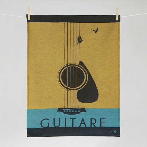"Tissage Moutet - Collection Musique ""Guitare"" by LN"