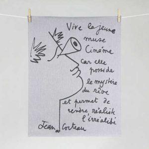 """Tissage Moutet - Collection Toiles de Maîtres - Jean Cocteau """"Cinéma"""""""