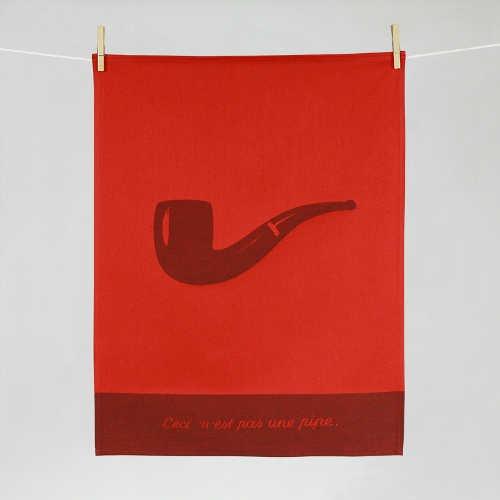 """Tissage Moutet - Collection Toiles de Maîtres - Magritte """"Ceci n'est pas une pipe"""""""
