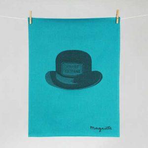 """Tissage Moutet - Collection Toiles de Maîtres - Magritte """"Chapeau"""""""