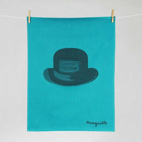 "Tissage Moutet - Collection Toiles de Maîtres - Magritte ""Chapeau"""