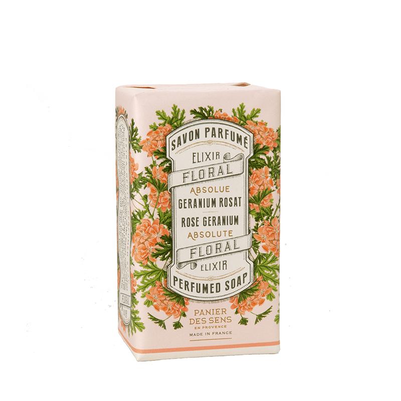 Savon ParfuméGéranium Rosat - Panier des sens